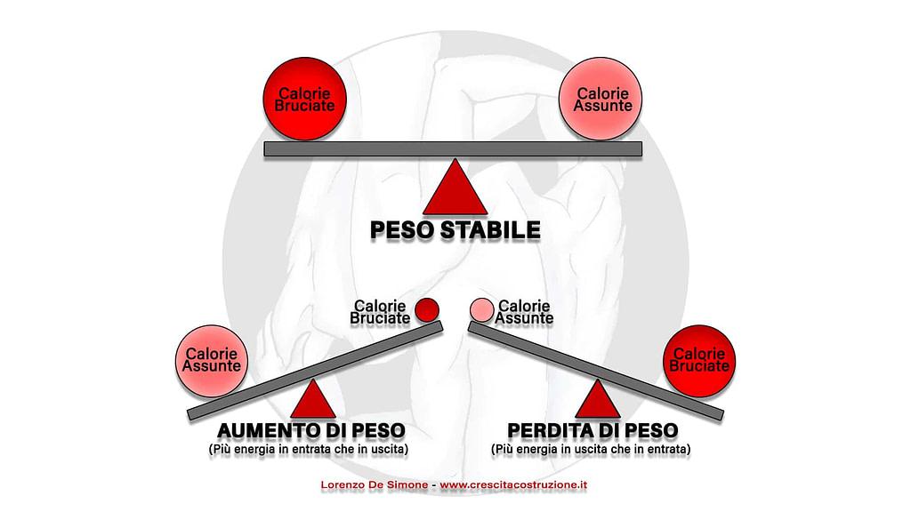 fabbisogno calorico bilancio energetico