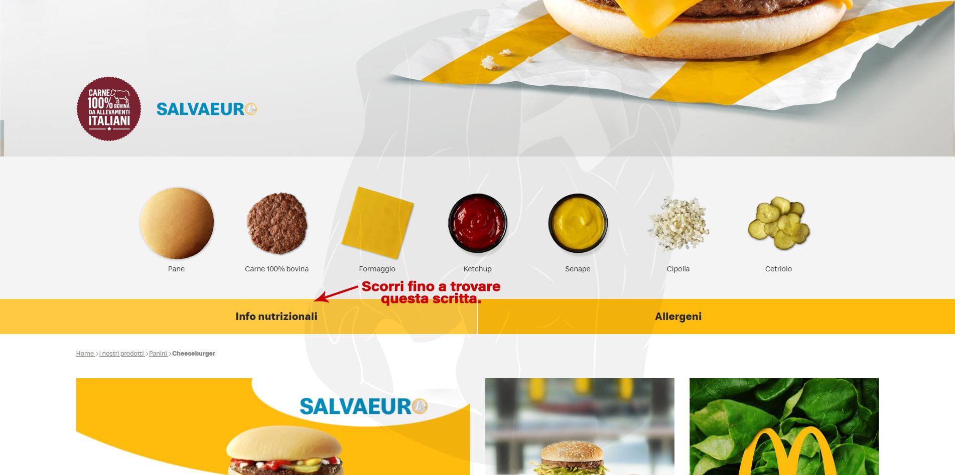 calcolare calorie mcdonalds 3