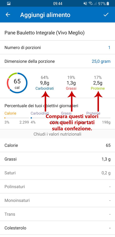 calcolare calorie myfitnesspal 3